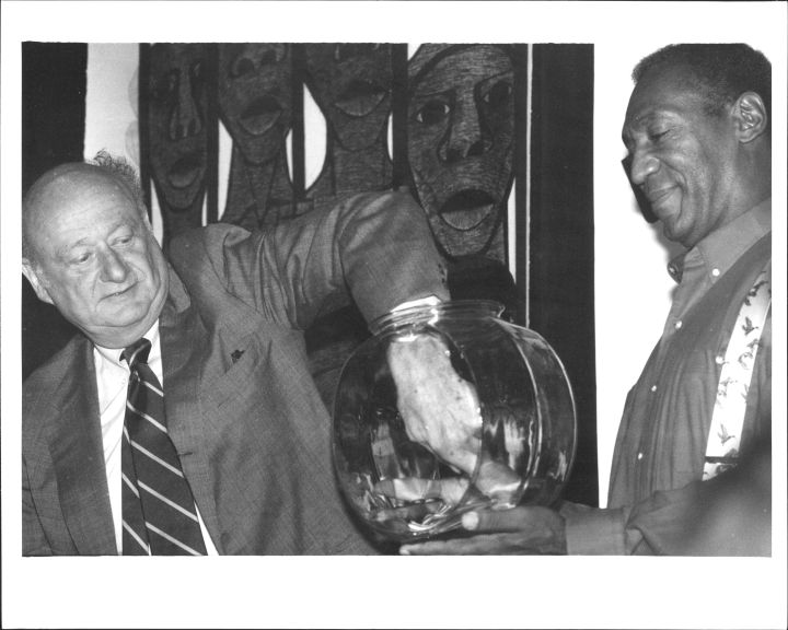 Bill Cosby Receiving The Key To NYC From Mayor Koch In 1987