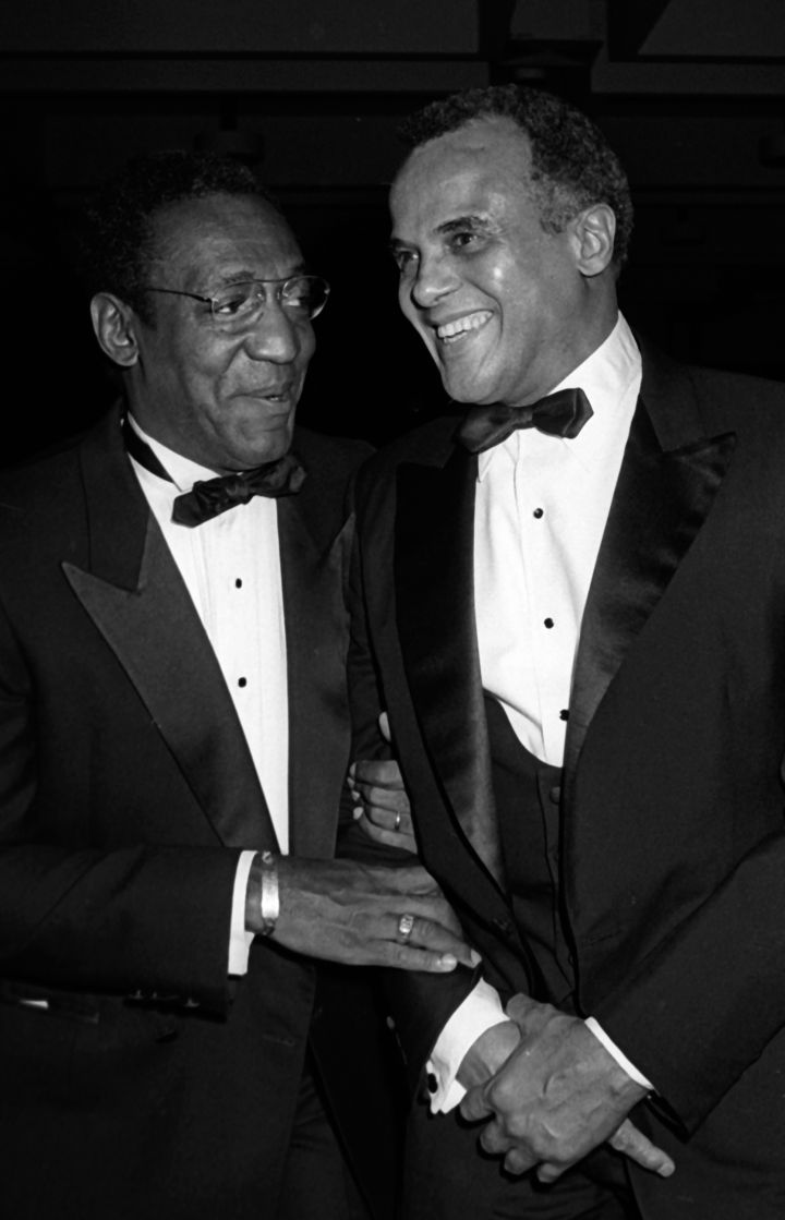 Bill Cosby and Harry Belafonte At 70th Annual Spingarn Awards In 1985