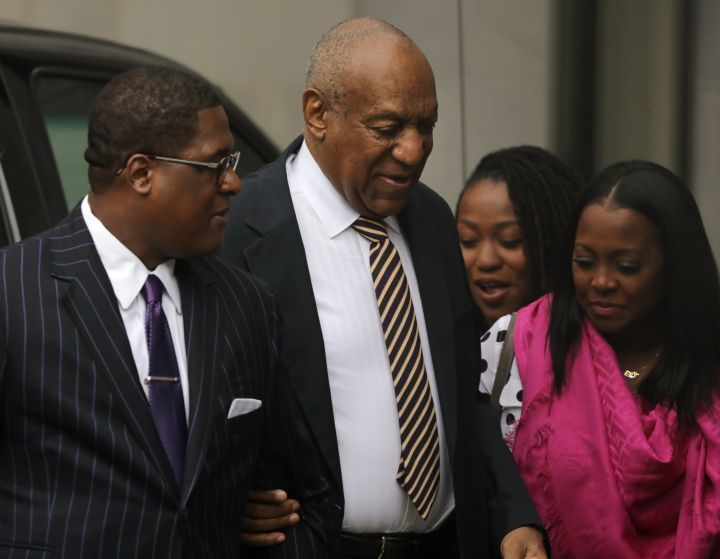 Bill Cosby With Keshia Knight Pulliam At His First Trial in 2017