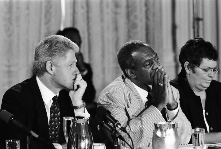Bill Cosby With President Bill Clinton In 1996