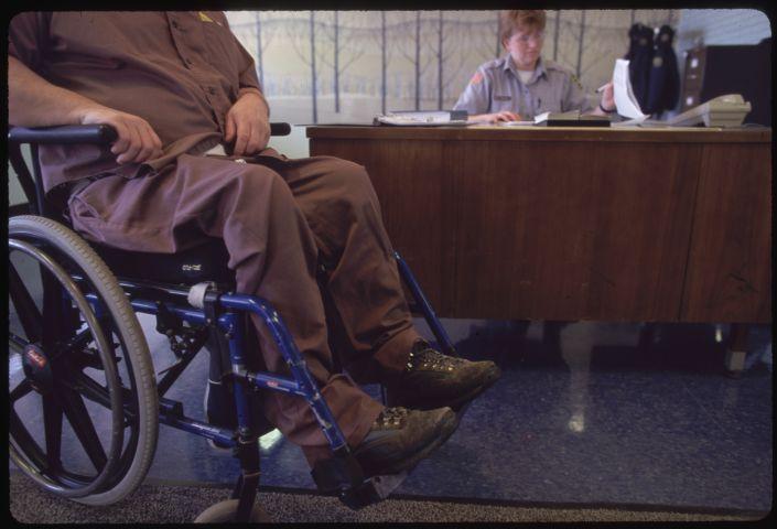 Guards and Wheelchair Bound Prisoner at Laurel Highlands Prison