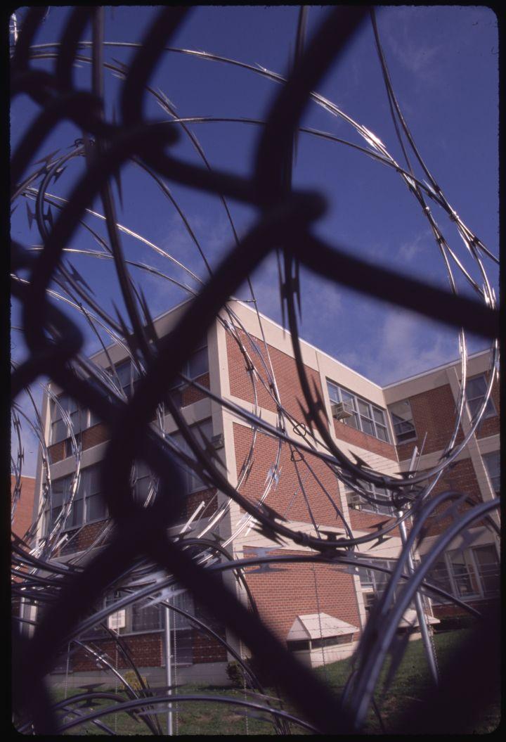 Barbed Wire Fencing Outside SCI Laurel Highlands Prison