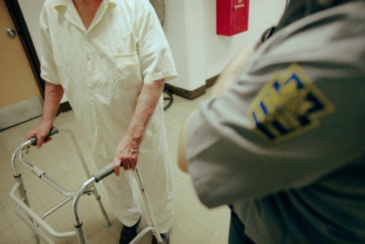 Inmate Using a Walker