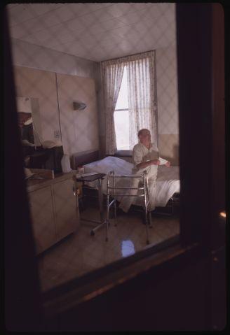 Older Prisoner in Hospital Room at Laurel Highlands Prison