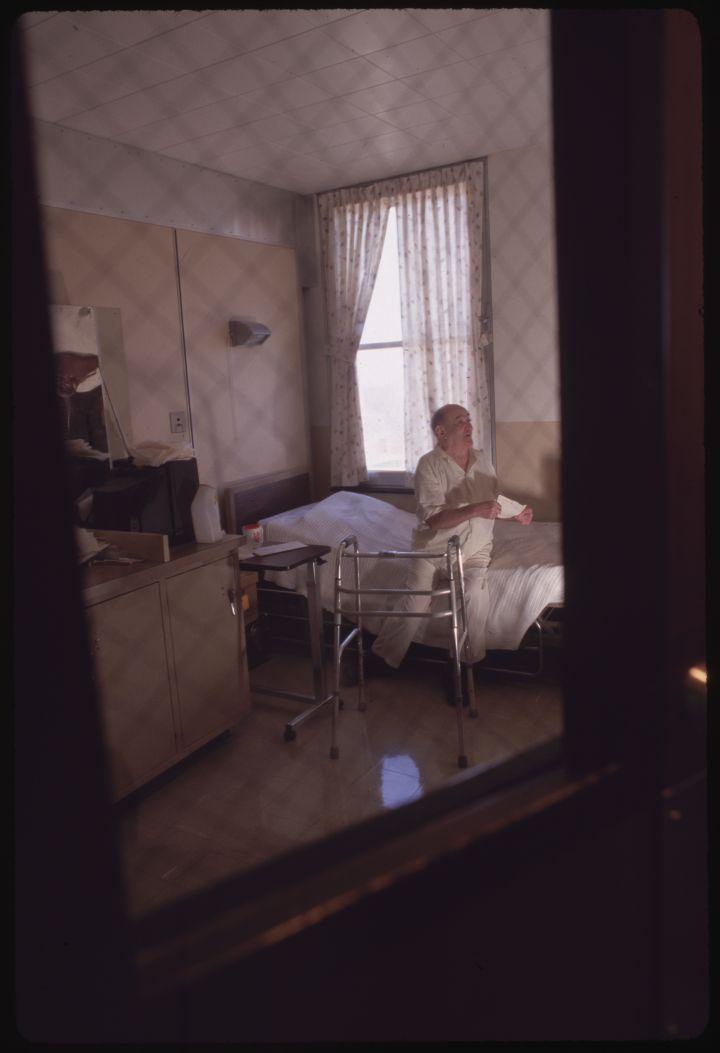 Older Prisoner in Hospital Room at SCI Laurel Highlands Prison