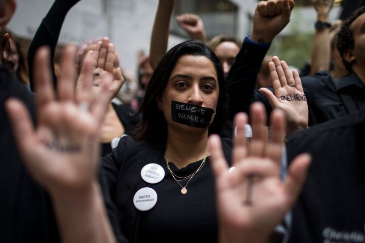Protesters Demonstrate Against Supreme Court Nominee Brett Kavanaugh On Day Of Hearing With His Accuser Dr. Christine Blasey Ford