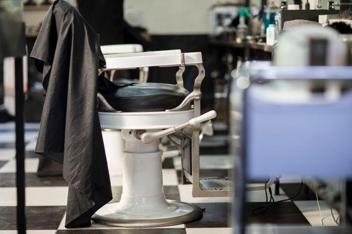 Empty customers seat at barbershop