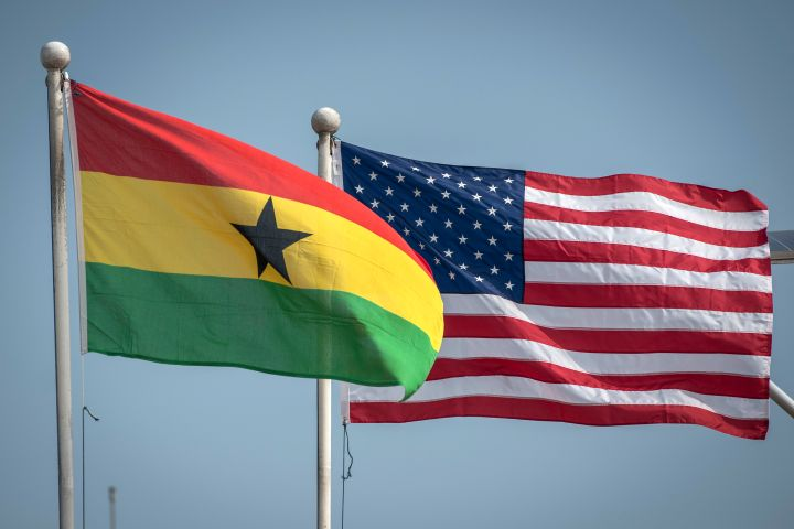 Ghanaian and US flags