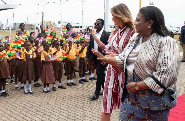 Melania Trump and Rebecca Akufo-Addo