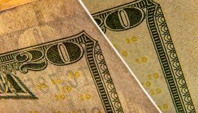 Close up of $20 bill