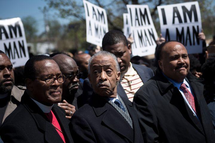 US-POLITICS-RACISM-MINORITIES-KING