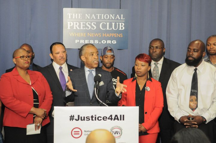 Civil rights leaders join the families of Michael Brown and Eric Garner at a press conference