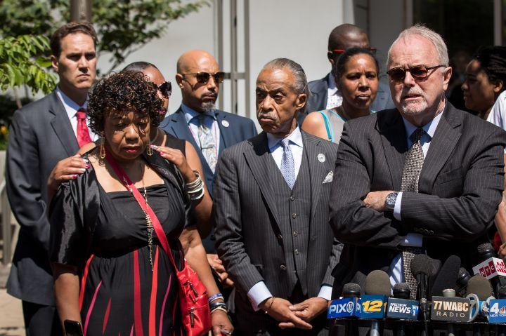 Sharpton And Eric Garner's Family
