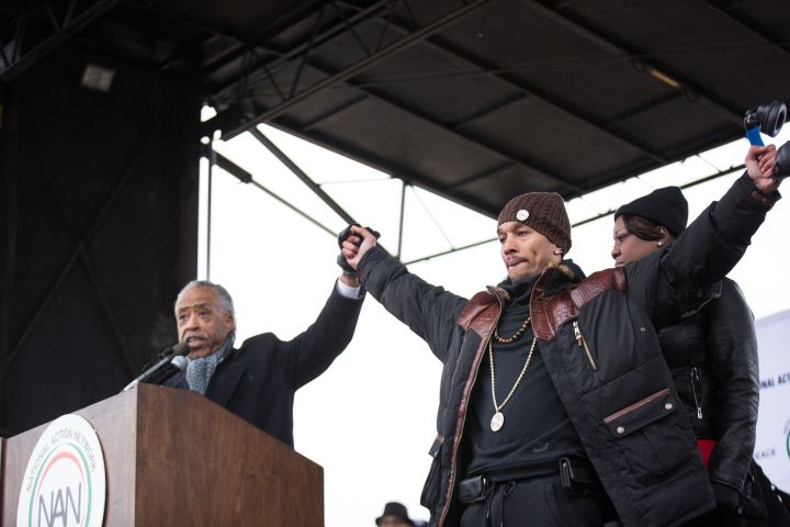 """Sharpton and """"Central Park 5"""" victim"""