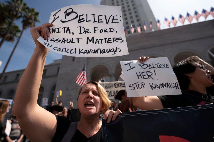 Supreme Court Nominee Brett Kavanaugh Protest in Los Angeles