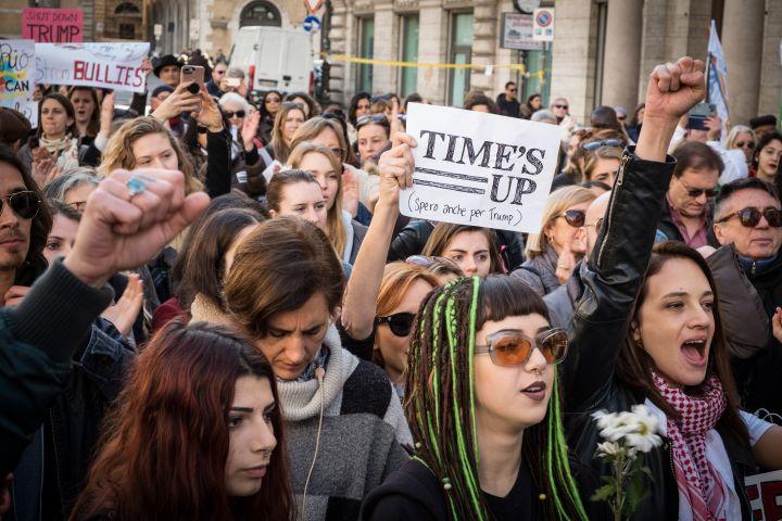 Women's March Rome 2018 Against Harvey Weinstein