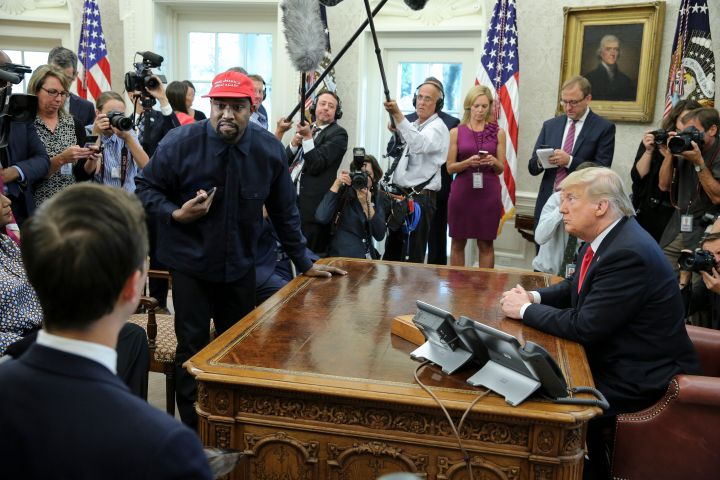 Kanye grandstanding in the Oval Office