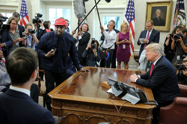 President Trump Hosts Kanye West And Former Football Player Jim Brown At The White House