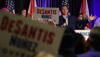 GOP Gubernatorial Candidate Ron DeSantis Campaigns In West Palm Beach