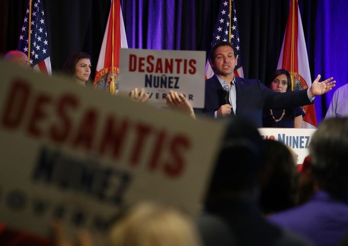 GOP Gubernatorial Candidate Ron DeSantis Campaigns In West Palm Beach
