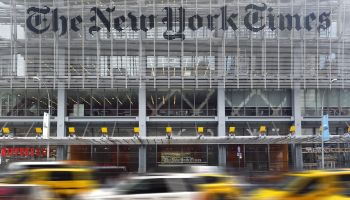 The New York Times headquarters along 8th Avenue in Midtown Manhattan, New York City