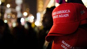 'Make America Great Again' red baseball caps, signature...