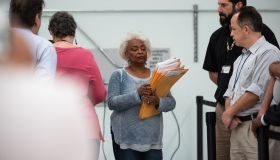 Brenda Snipes, Supervisor of Elections seen leading the hand...