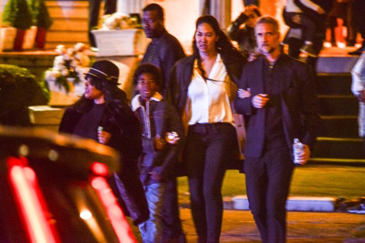 Tragic Kim Porter's two sons and former beau Diddy leave her emotional wake in Georgia.