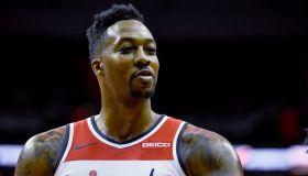Washington Wizards and the New York Knicks NBA action