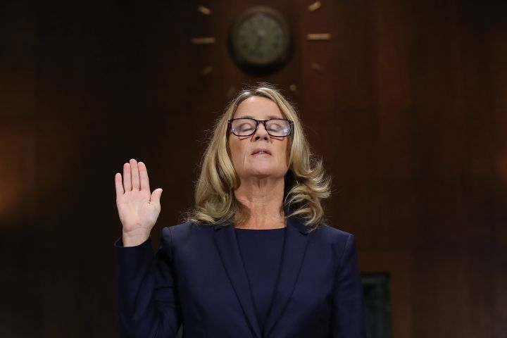 Dr. Christine Blasey Ford and Supreme Court nominee Brett Kavanaugh