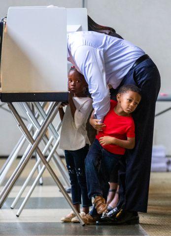 FL Gubernatorial Candidate Andrew Gillum Casts His Vote In Midterm Election