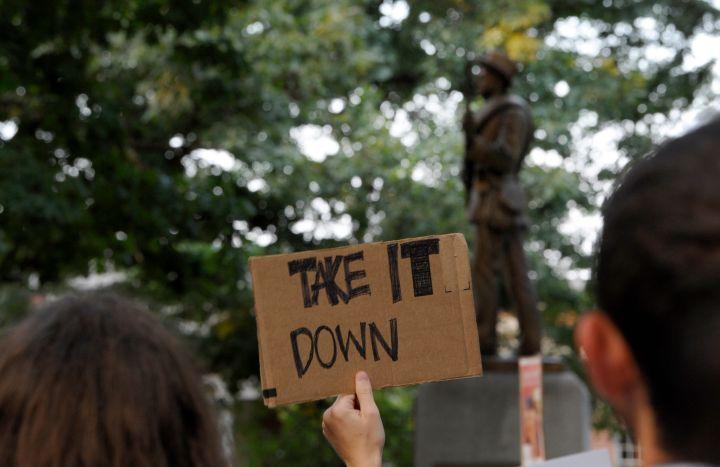 Rally Protesting UNC's Confederate Era Monument 'Silent Sam' Held On Campus