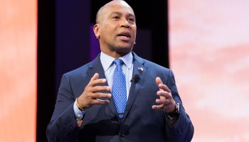 Deval Patrick, Former Governor of Massachusetts, speaking at...