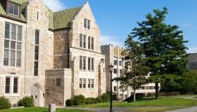 Educational building on Boston College campus in Chestnut Hill, MA