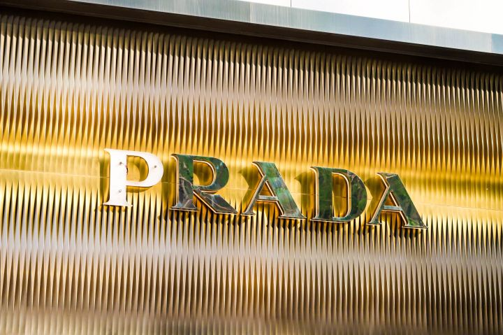 Logo of PRADA is pictured at Central, Hong Kong. PRADA is an...