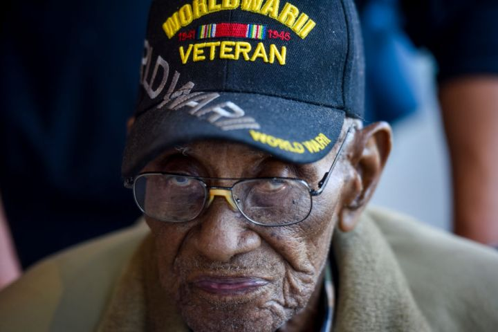 Mr. Richard Overton, 112-years-old, The 3rd Olderst Man on the Plant and the Oldest Military Veteran, Visits the National Museum of African American History and Culture