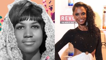 Aretha Franklin and Kim Porter
