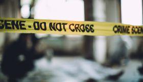 Cordon Tape On A Murder Scene