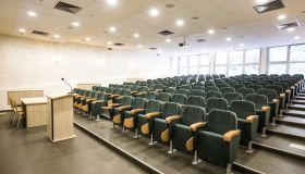 Empty lecture hall!