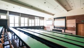 Empty lecture hall at university