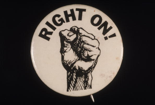 'Right On!' Black Power Button
