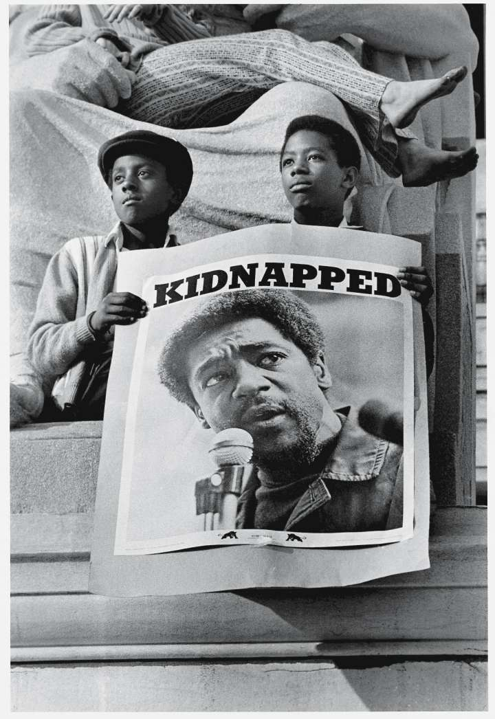 'Kidnapped' Poster At Black Panther Rally