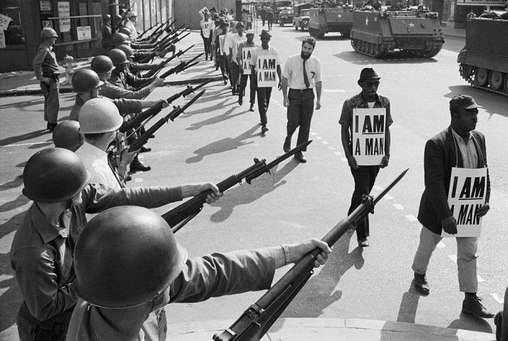 Soldiers at Civil Rights Protest