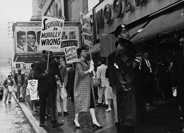 Anti Segregation In The Southern Stores March At Broadway In New York