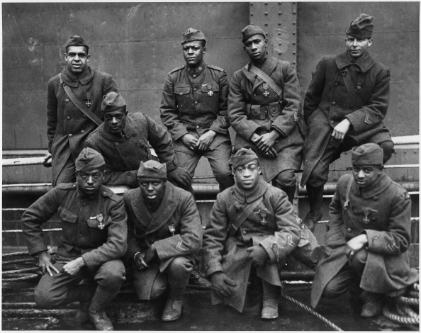 The 369th, 15th New York who won the Croix de Guerre for Gallantry