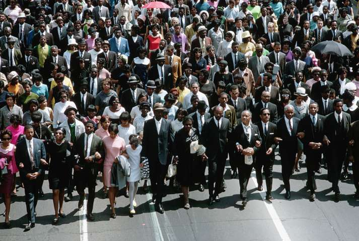 Crowd at Martin Luther King's Funeral