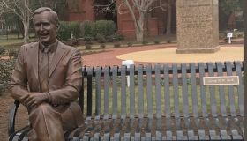 George H.W. Bush statue on Hampton University Campus