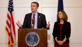 Governor Ralph Northam addresses the media in response to his medical school yearbook.