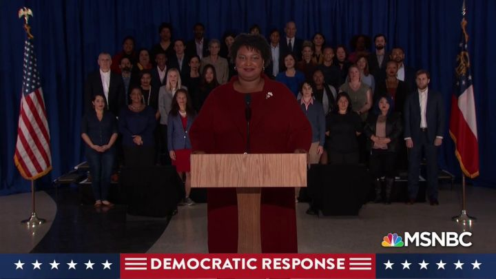 Stacey Abrams State of the Union Democrats response