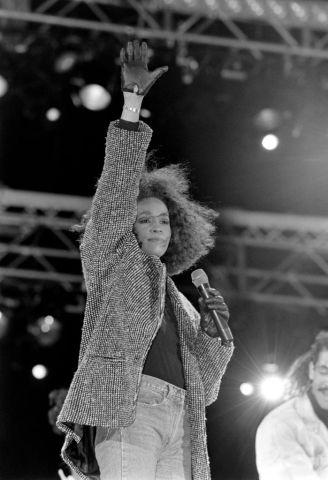 Whitney Houston Performs At Nelson Mandela's 70th Birthday
